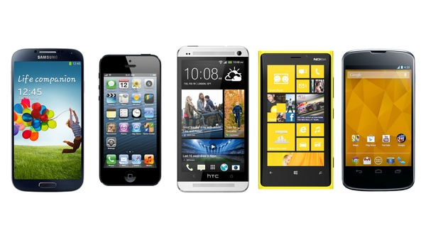 galaxy s4 vs iphone 5 vs htc one vs xperia z vs blackberry z10 jpgXperia Z Vs Iphone 5 Vs Galaxy S4