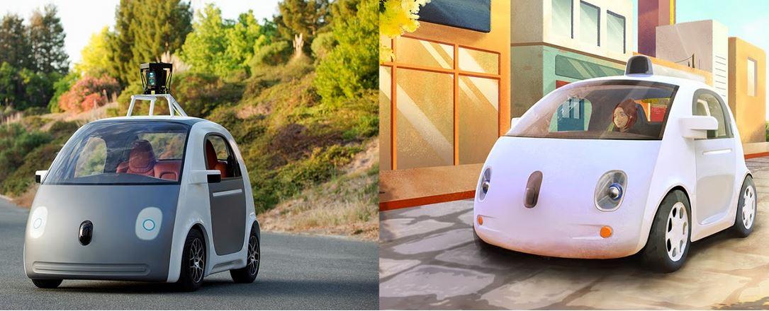 Carro da Google sem condutorr