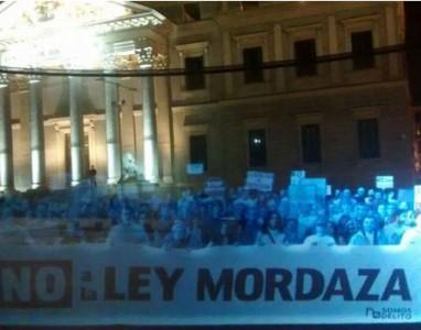 Hologramas substituem pessoas em protestos na Espanha