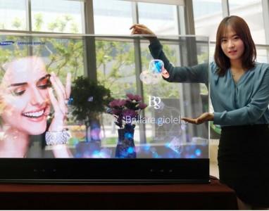Samsung exibe o novo ecrã transparente