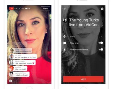 Aplicativo móvel do Youtube receberá função de transmissão ao vivo