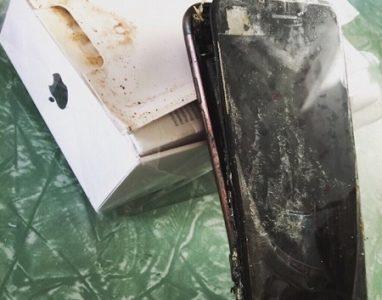 Já há relatos de um iPhone 7 que explodiu