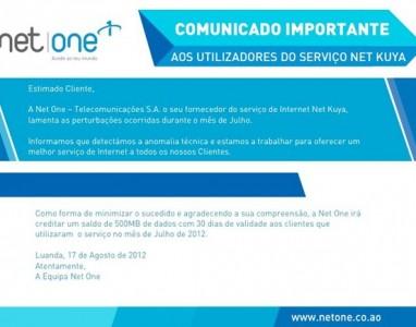 """[Angola] NetOne """"oferece"""" 500MB para os seus usuários!"""