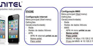 configurações mms e internet Unitel