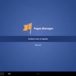 Gerenciador de páginas do Faceboo