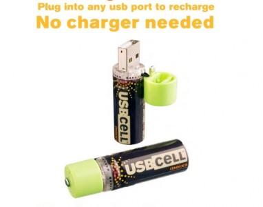 USB CELL (Pilhas recarregáveis através da entrada usb)