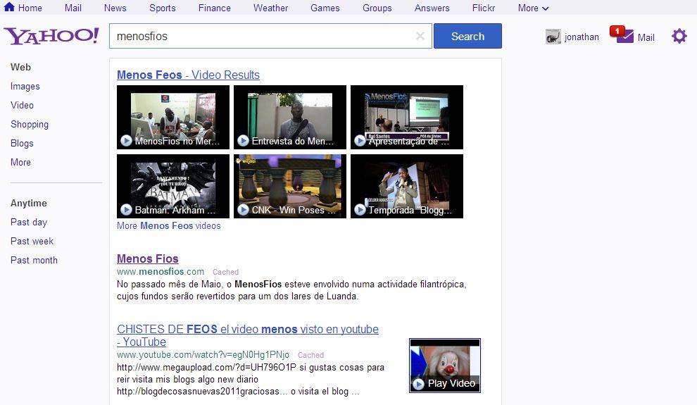 Busca com Yahoo! Search