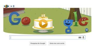 Google 15 anos