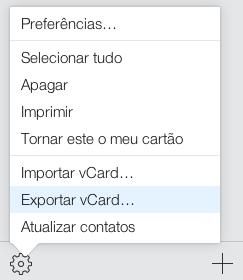 iCloud exportar vCard