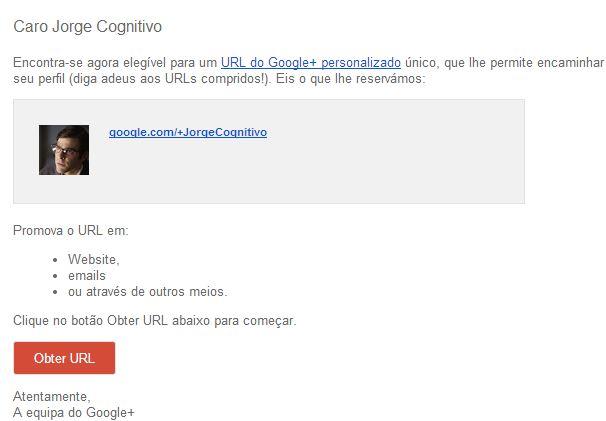 Google + Custom URL, learn how to get.