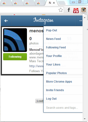 instagram-for-chrome | Less wires