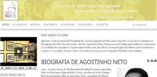 Site da Fundação Agostinho Neto