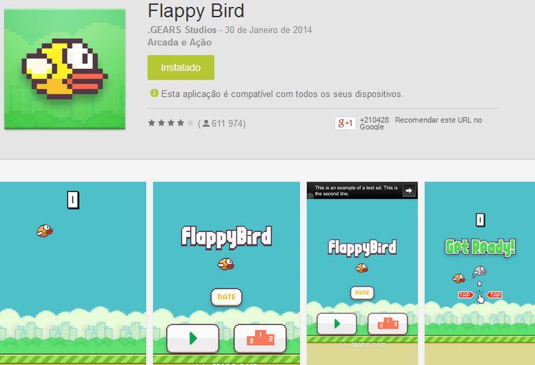 Flappy Bird na Play Store