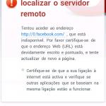 Facebook Zero não é processada no Opera Mini