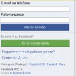 Acesso ao Facebook Zero usando o Google Chrome
