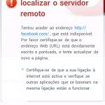 Opera Mini não acede ao Facebook