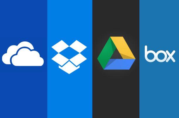 Box,Dropbox,Onedrive, Google drive