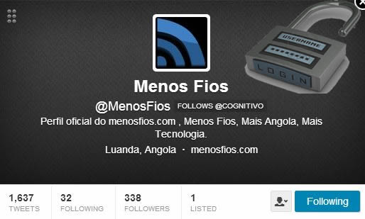 MenosFios no Twitter