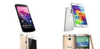 iPhone 5s Vs Galaxy S5 vs HTC One M8 Vs Nexus 5