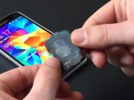 Leitor de impressões digitais do Samsung Galaxy S5