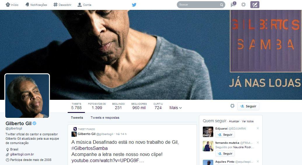 Novo layout do Twitter
