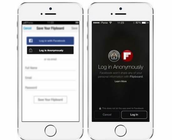 Login anónimo em Apps de terceiros
