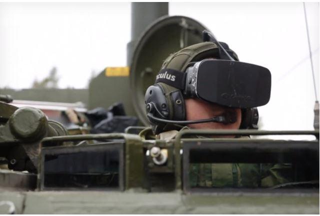 Oculus Rift em tanque de guerra