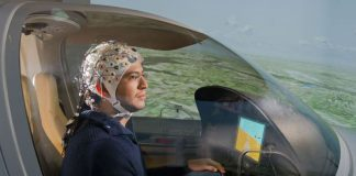 Avião pilotado por ondas cerebrais