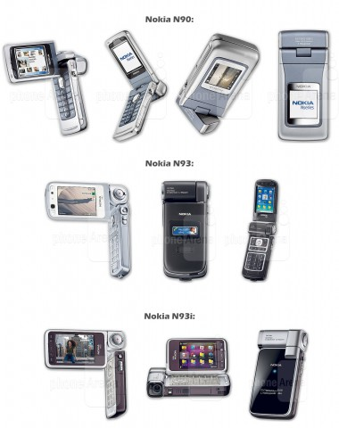 7. Nokia N90, N93 and N93i