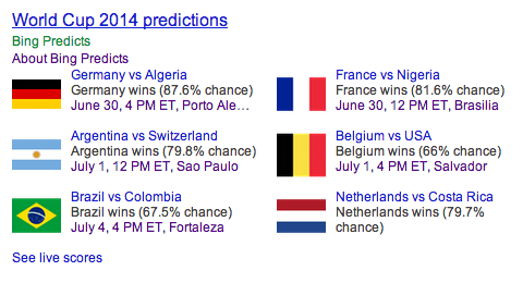 Previsão Bing