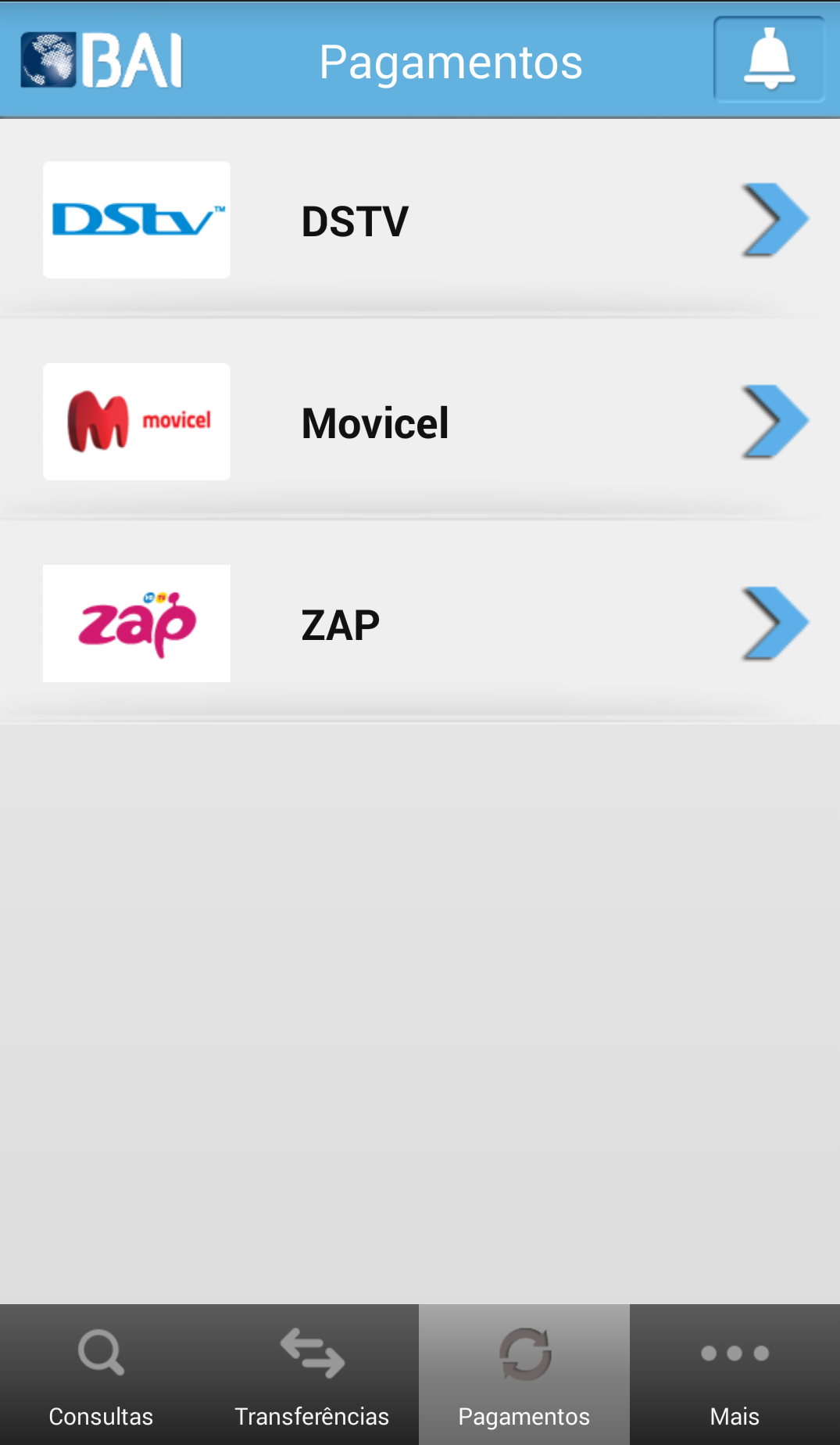 BAI Mobile - Pagamentos