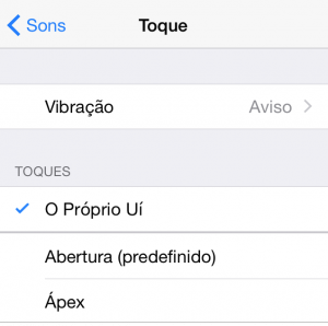 Toque iPhone