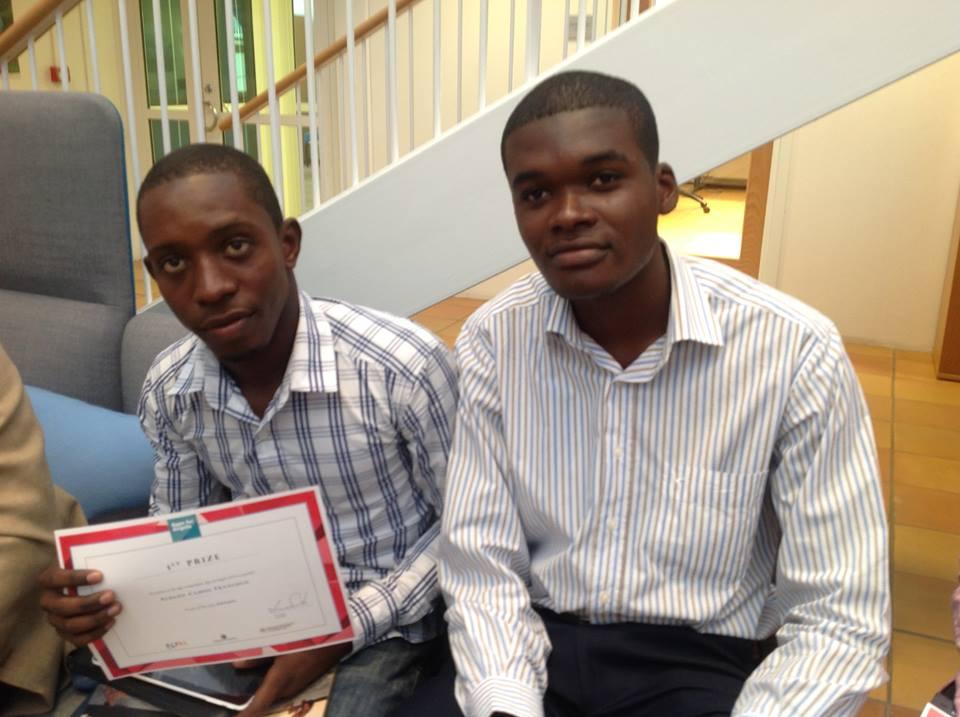 Carlos Jaime e Albano Francisco, vencedores do concurso Apps For Angola
