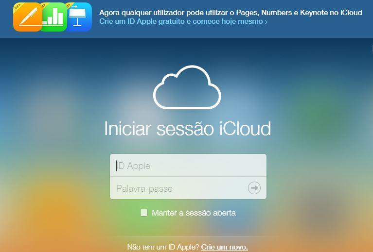 conta no iCloud
