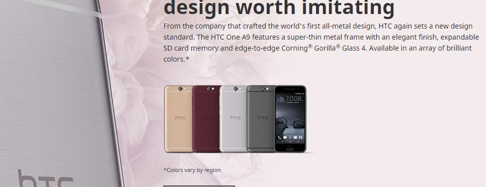 """Da empresa que apresentou o promeiro design todo em metal, HTC novamente estabelece um padrão em design. O HTC One A9 possui uma """"armação"""" super fina de metal com um acabamento elegante slot para cartão de memória Gorilla® Glass 4, disponível em várias cores dependendo da região."""