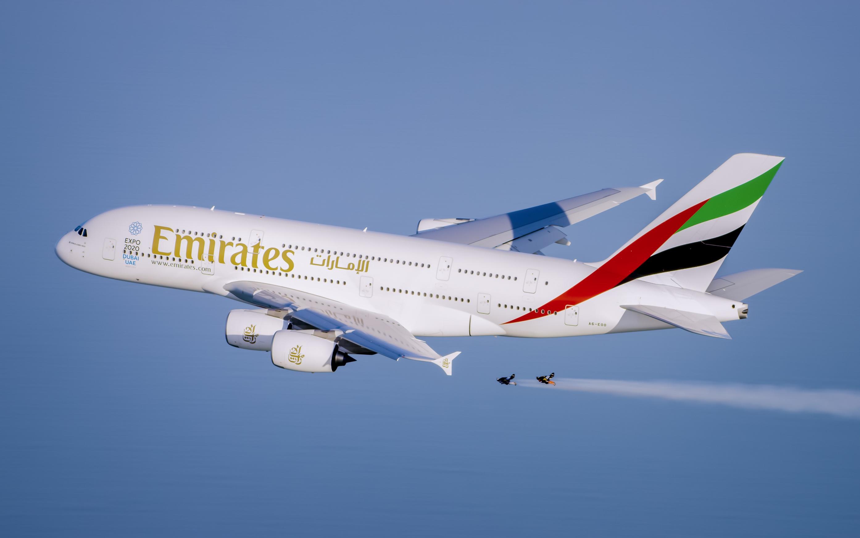 Emirates A380 e Jetman Dubai