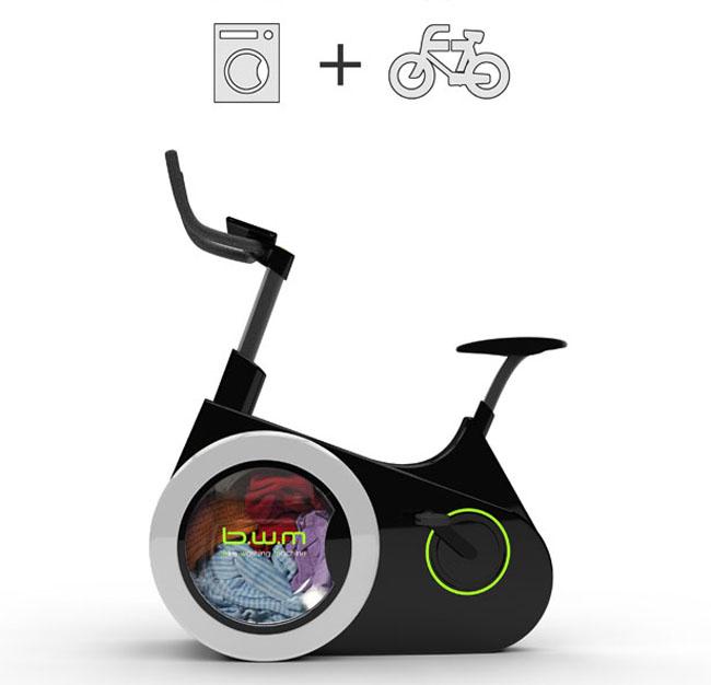 maquina de lavar e bicicleta de exercicio