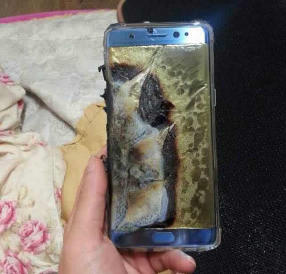 Galaxy Note 7 depois da explosão
