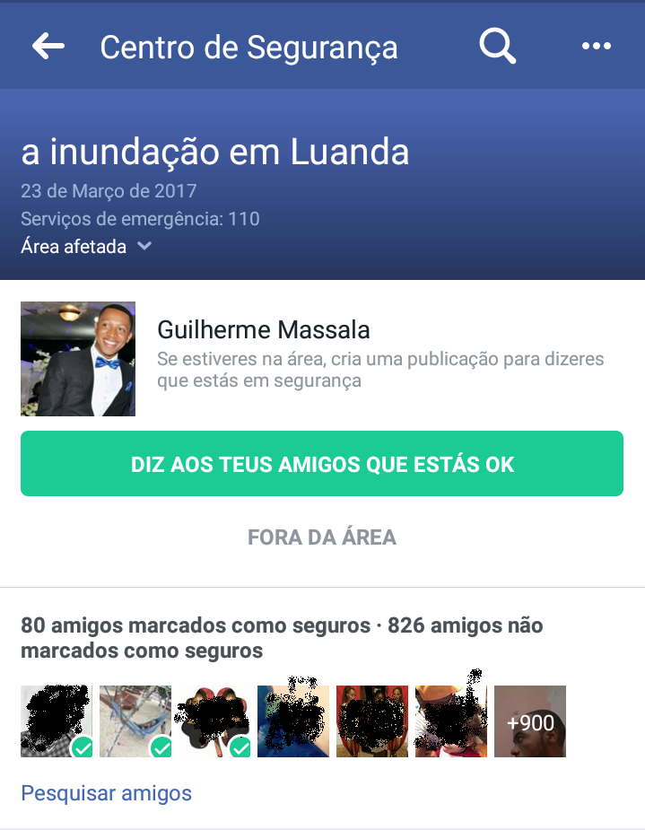 Facebook has activated the Safety Check for Angola | Less wires