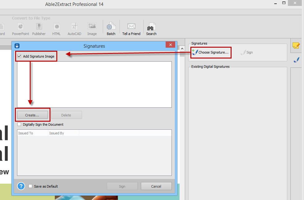 How to Sign PDF documents with Able2Extract Professional